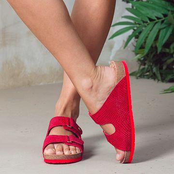 Bahamas Rojo Napa Mujer Calzado