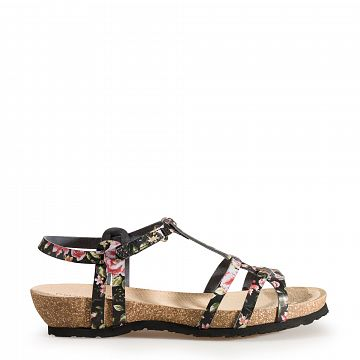 Dori Flowers Black Napa Tecno Woman